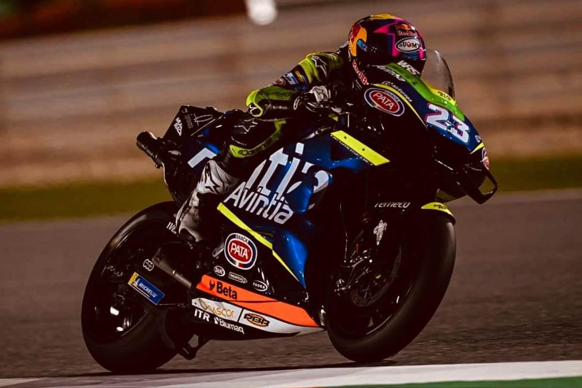 Enea Bastianini sulla Ducati nei test MotoGP a Losail, in Qatar
