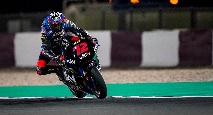 Marco Bezzecchi nei test Moto2 di Losail, in Qatar