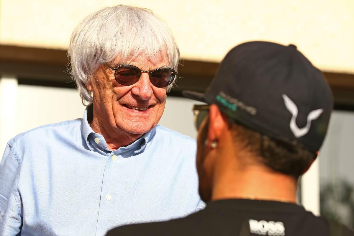 Bernie Ecclestone e Lewis Hamilton