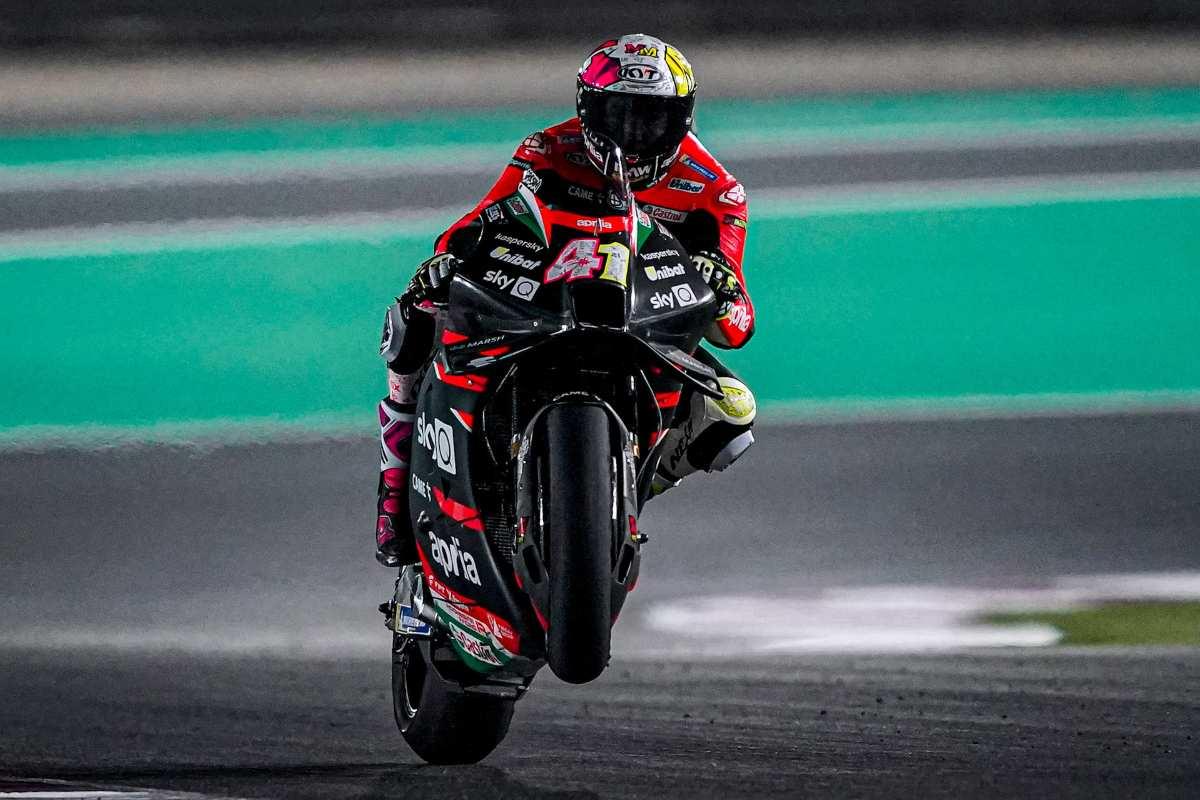 Aleix Espargaro nei test MotoGP di Losail, in Qatar