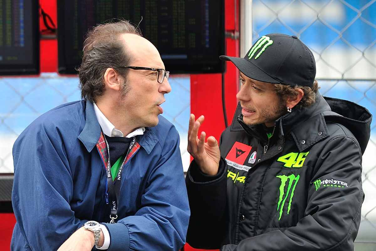 Guido Meda con Valentino Rossi