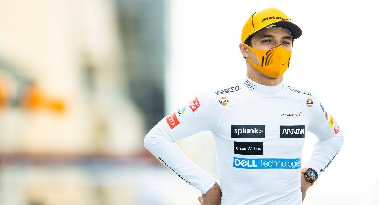 Il pilota della McLaren, Lando Norris