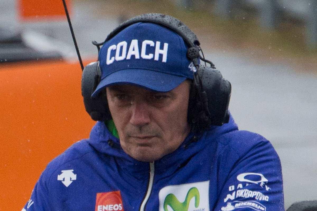 Luca Cadalora quando era coach di Valentino Rossi