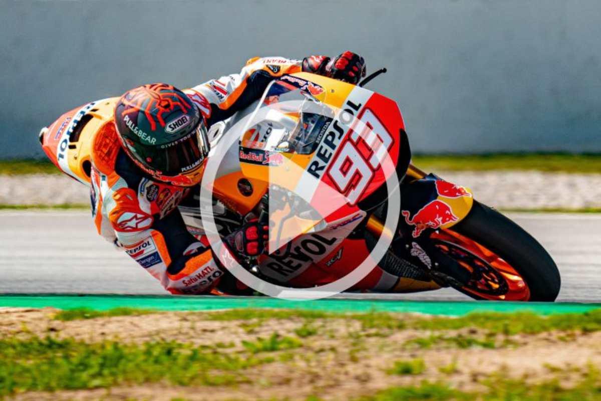 Marc Marquez prova in pista la MotoGP stradale RC213V-S