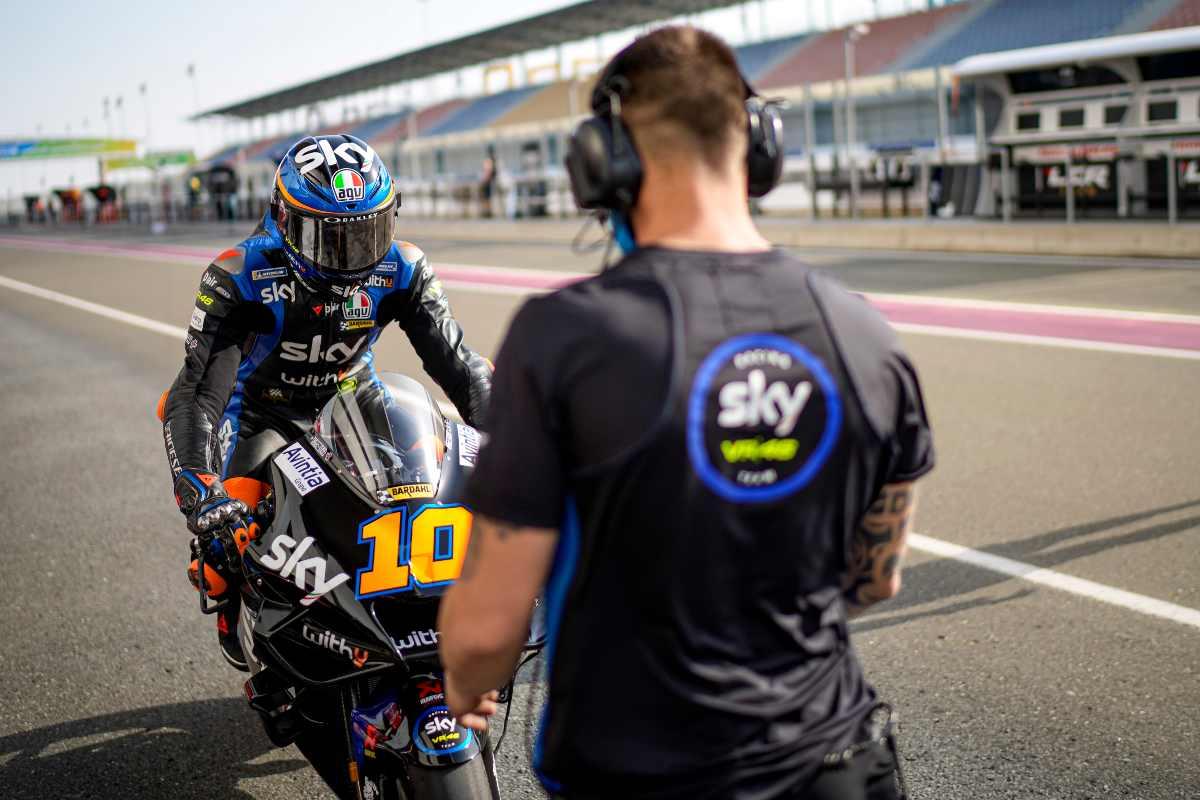 Luca Marini sulla Ducati Avintia nei test MotoGP di Losail, in Qatar