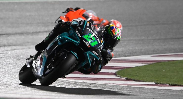 Franco Morbidelli in pista nel Gran Premio del Qatar 2021 di MotoGP a Losail