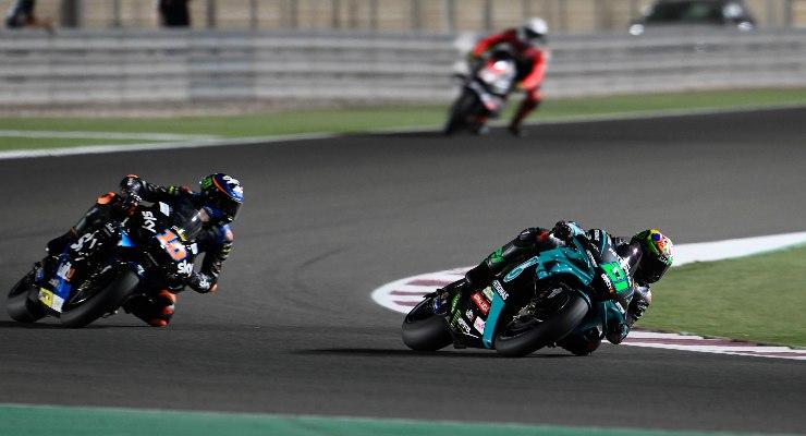 Franco Morbidelli in pista nel Gran Premio del Qatar di MotoGP 2021 a Losail
