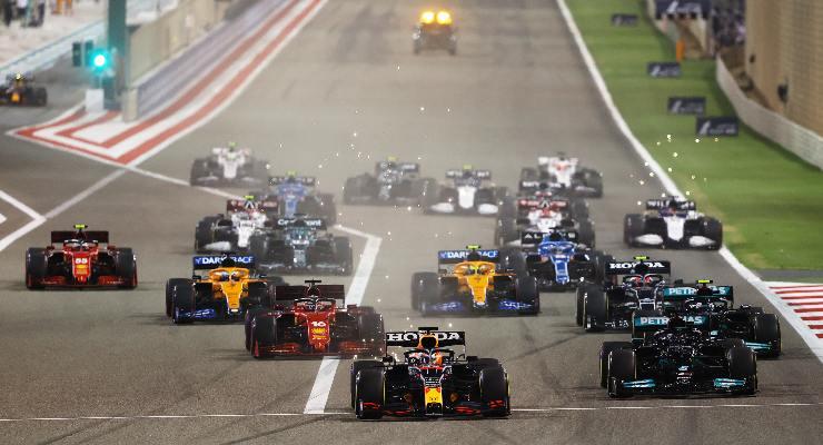 La partenza del Gran Premio del Bahrain di F1 2021 a Sakhir