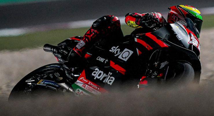 Lorenzo Savadori nei test MotoGP di Losail, in Qatar