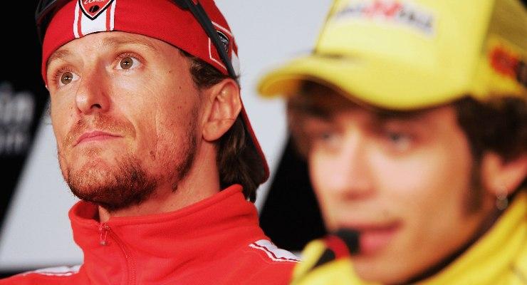 Valentino Rossi e Sete Gibernau nella conferenza stampa del Gran Premio di Spagna 2006