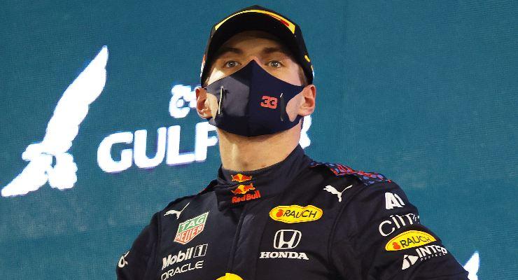 Max Verstappen sul podio del Gran Premio del Bahrain di F1 2021 a Sakhir