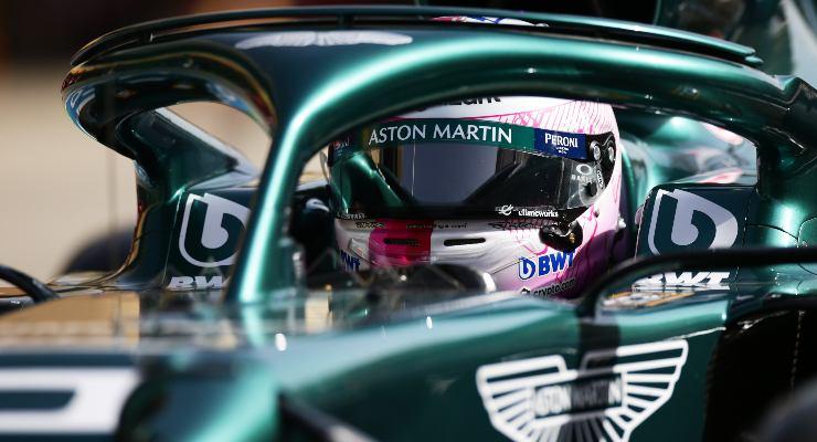 Sebastian Vettel sulla Aston Martin