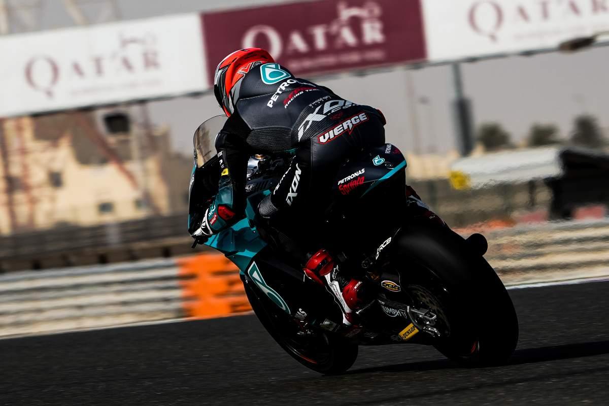 Xavi Vierge, del team Petronas, in pista nei test Moto2 di Losail, in Qatar