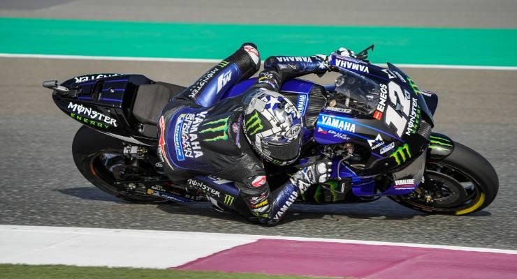 Maverick Vinales in pista nelle prove libere del Gran Premio del Qatar di MotoGP 2021 a Losail