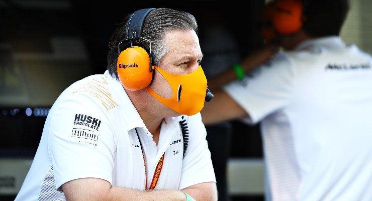 L'amministratore delegato della McLaren, Zak Brown