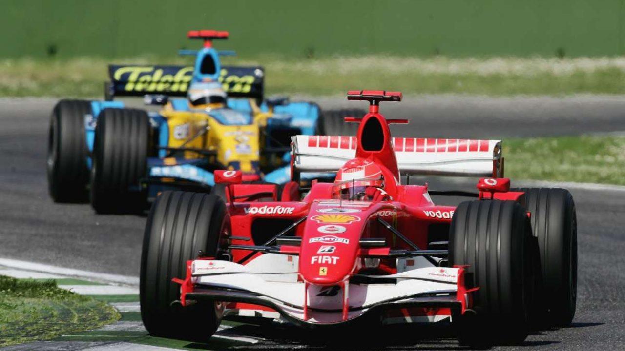 Michael Schumacher e Fernando Alonso nel 2006