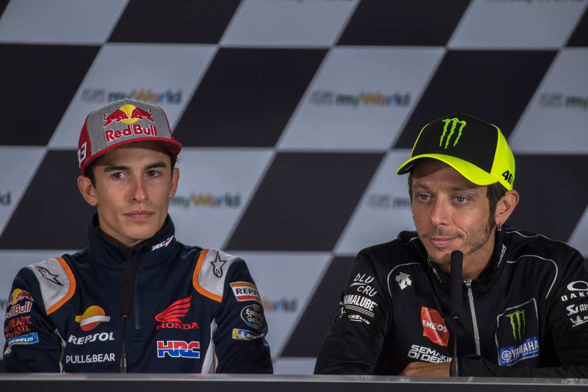 Valentino Rossi e Marc Marquez (Getty Images)