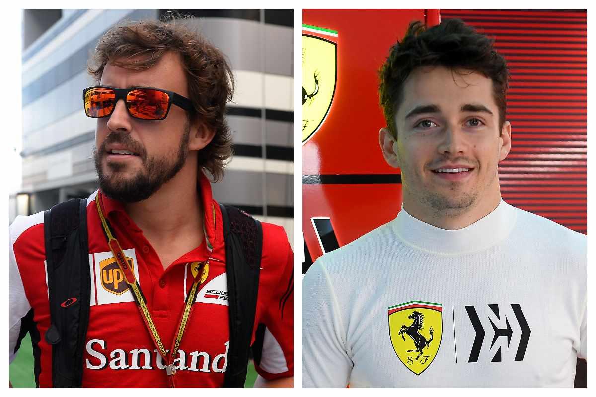 Fernando Alonso e Charles Leclerc