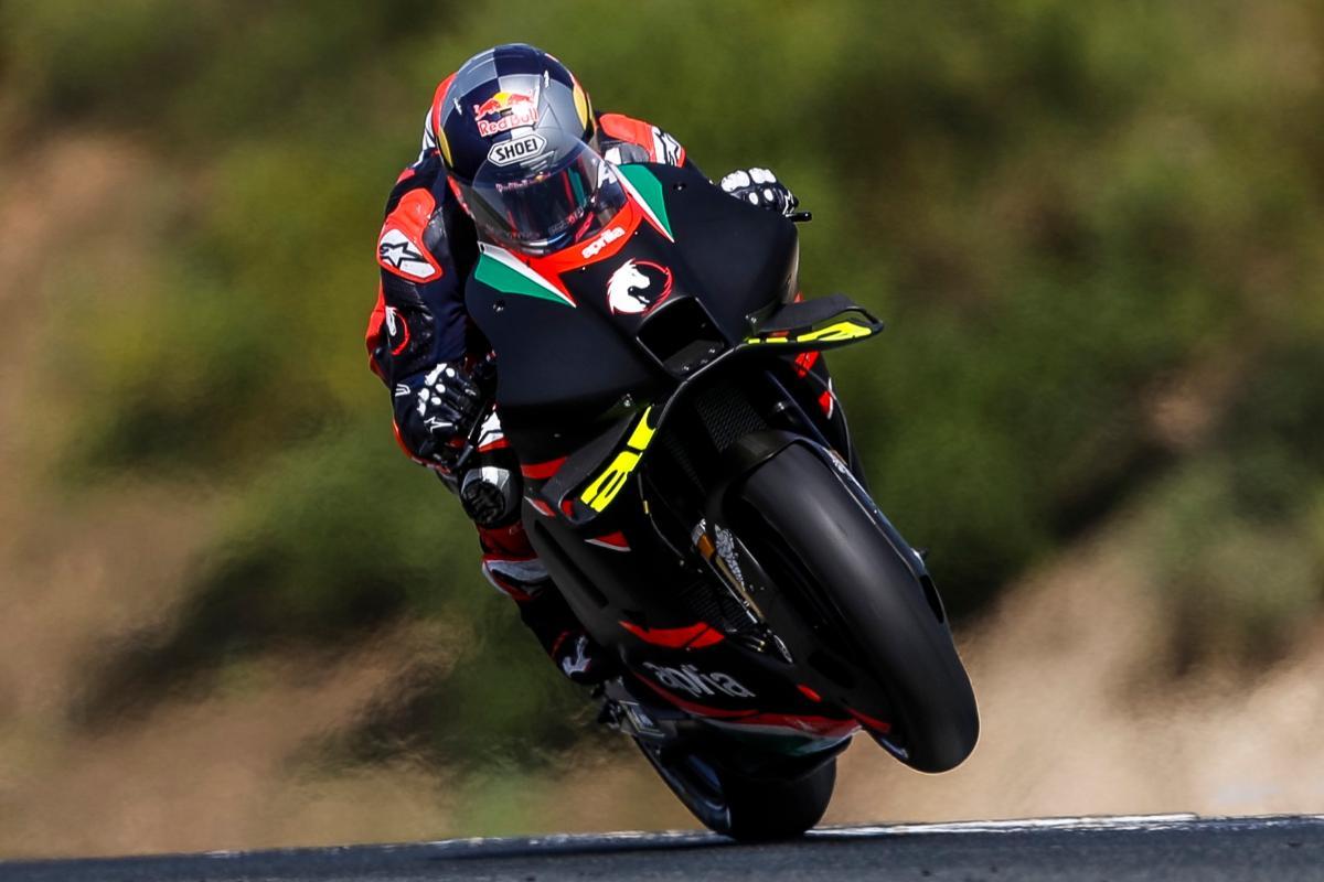 Andrea Dovizioso in pista nei test a Jerez de la Frontera