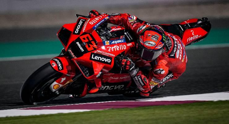 Pecco Bagnaia nelle prove libere del Gran Premio di Doha di MotoGP 2021 a Losail