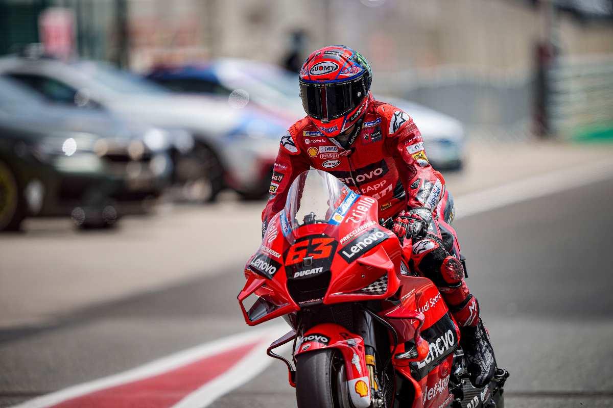 Pecco Bagnaia al Gran Premio del Portogallo di MotoGP 2021 a Portimao