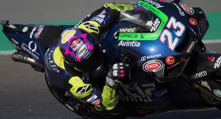 Enea Bastianini in pista nel Gran Premio del Qatar di MotoGP 2021 a Losail