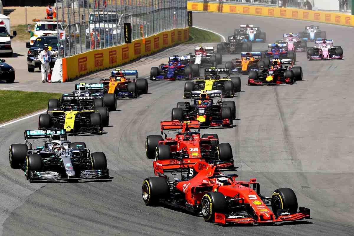 La partenza di un Gran Premio di Formula 1 nel 2019