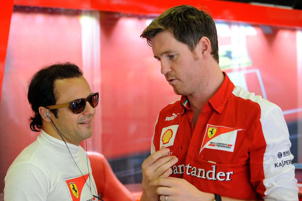 Felipe Massa e il suo ingegnere di pista Rob Smedley nel 2013
