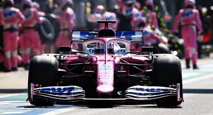 Nico Hulkenberg sulla Racing Point a Silverstone 2020