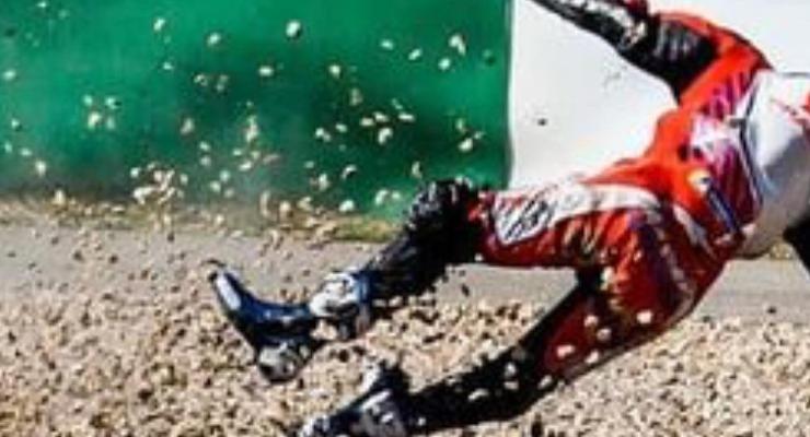 La caduta di Jorge Martin durante il Gran Premio del Portogallo di MotoGP 2021 a Portimao
