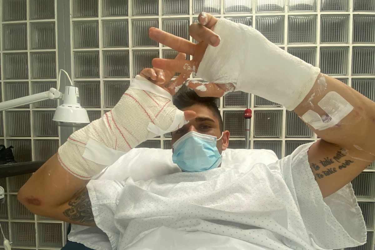 Jorge Martin all'ospedale di Barcellona