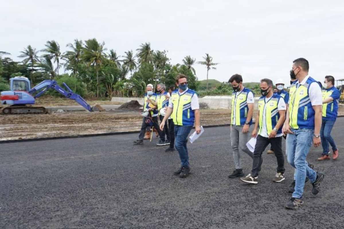 I lavori di costruzione della nuova pista di MotoGP a Mandalika, in Indonesia
