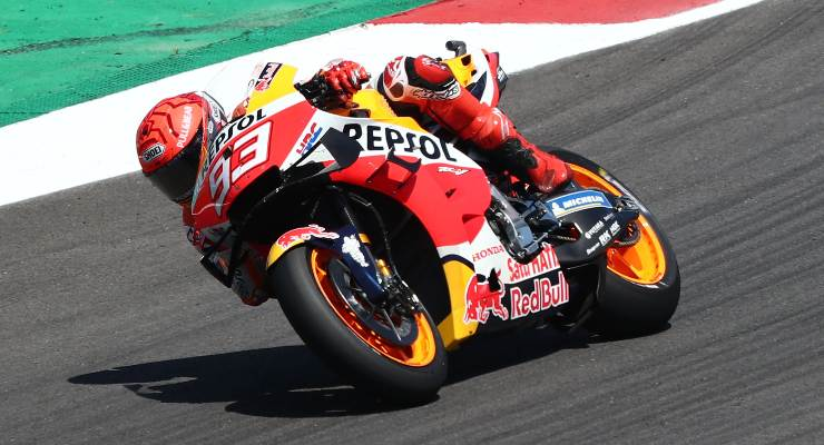 Marc Marquez sulla sua Honda al Gran Premio del Portogallo di MotoGP 2021 a Portimao