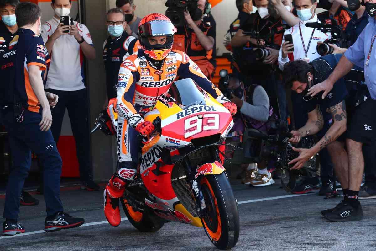 Marc Marquez sulla Honda nelle prove libere del Gran Premio del Portogallo di MotoGP 2021 a Portimao