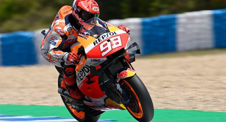 Marc Marquez sulla  Honda nel Gran Premio di Spagna di MotoGP 2021 a Jerez