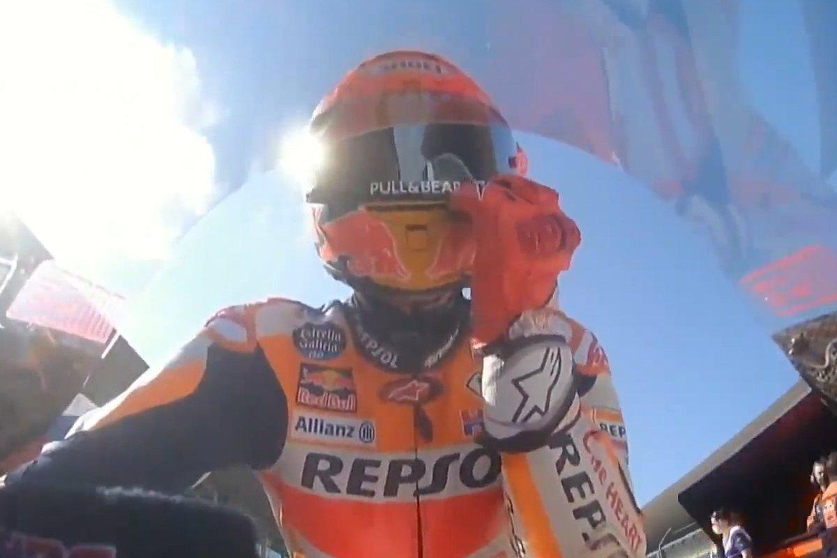 Marc Marquez torna in sella alla sua Honda nelle prove libere del Gran Premio del Portogallo di MotoGP 2021 a Portimao