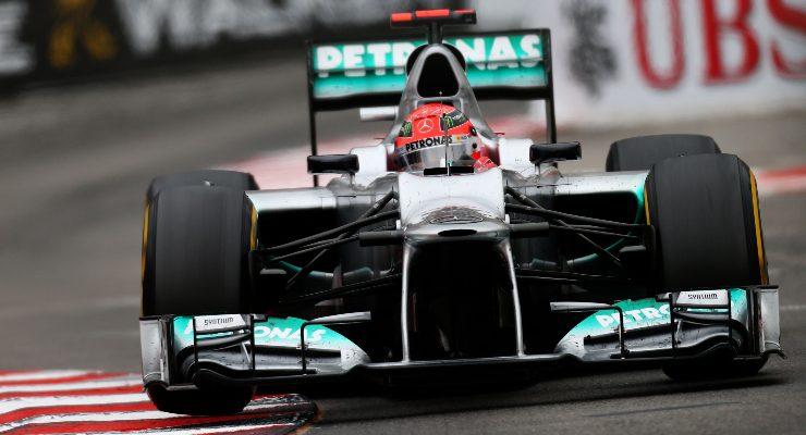 Michael Schumacher sulla Mercedes al Gran Premio di Monaco di F1 2012 a Montecarlo