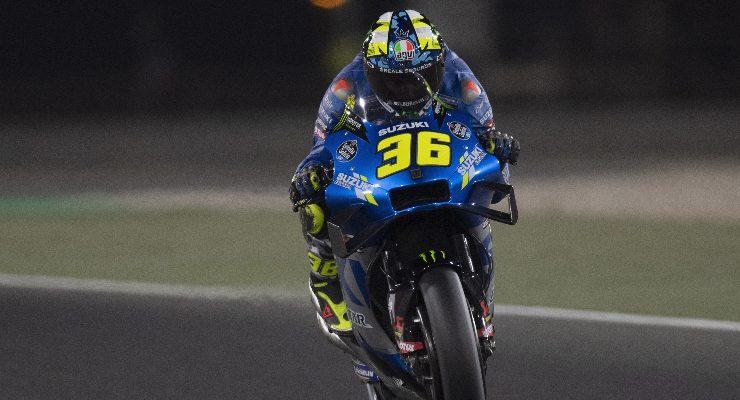 Joan Mir in pista sulla Suzuki nel Gran Premio di Doha di MotoGP 2021 a Losail