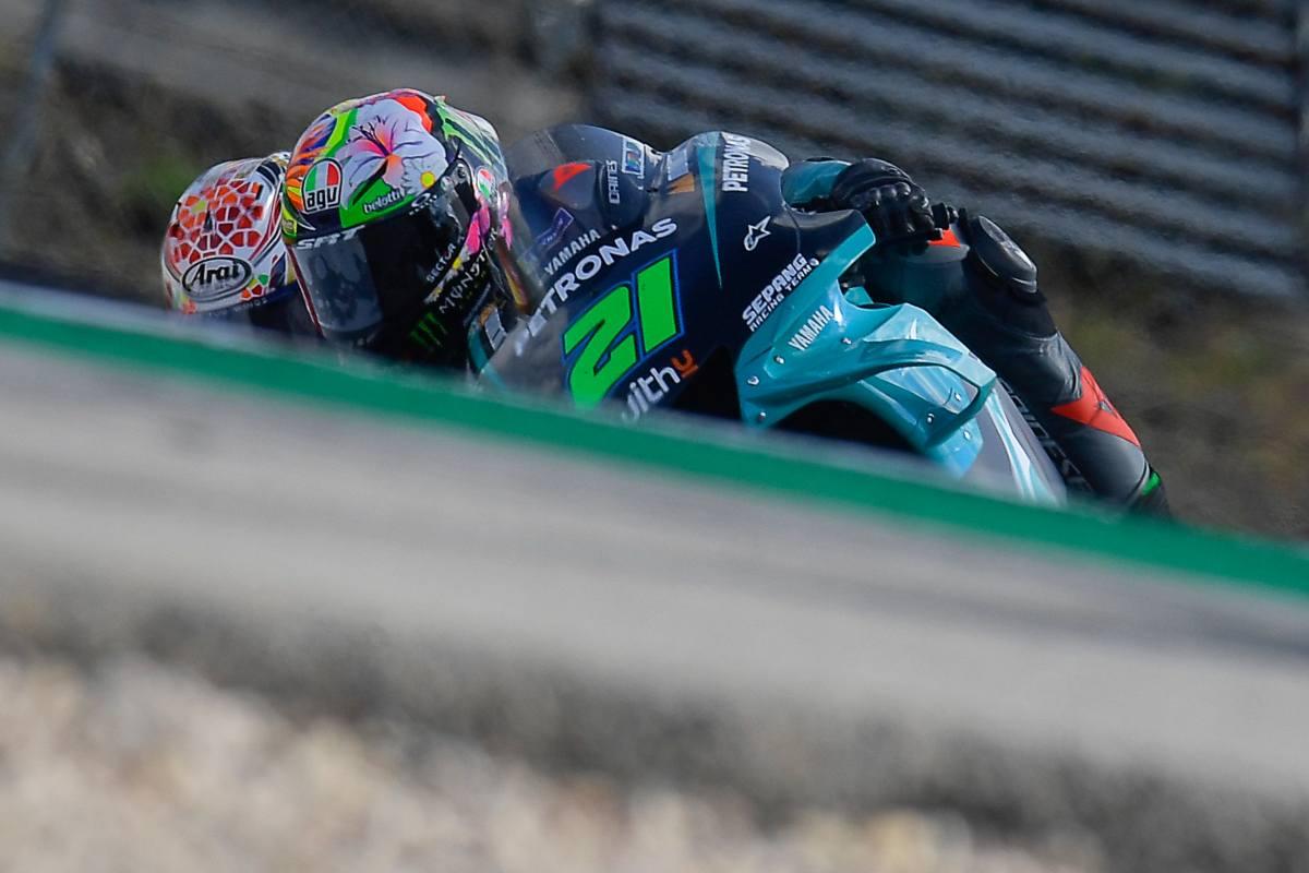 Franco Morbidelli sulla Yamaha Petronas nel Gran Premio del Portogallo di MotoGP 2021 a Portimao