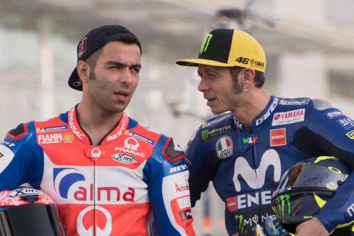 Danilo Petrucci e Valentino Rossi