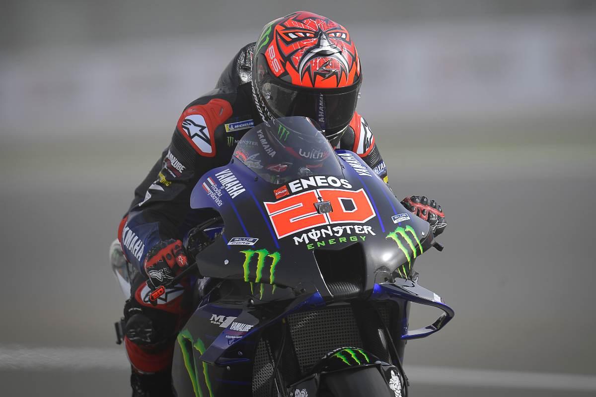 Fabio Quartararo in pista nel Gran Premio di Doha di MotoGP 2021 a Losail