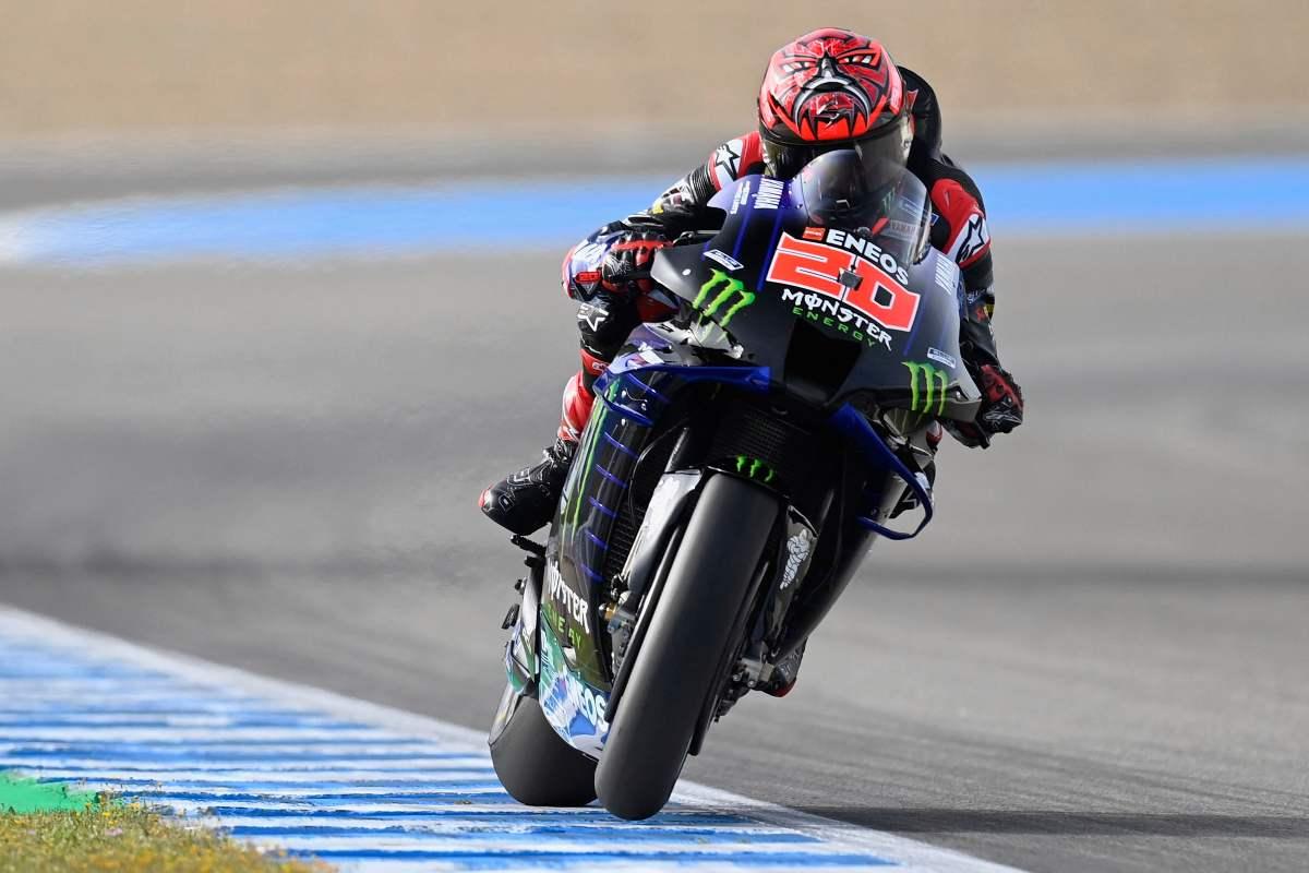 Fabio Quartararo sulla Yamaha nelle prove libere del Gran Premio di Spagna di MotoGP 2021 a Jerez