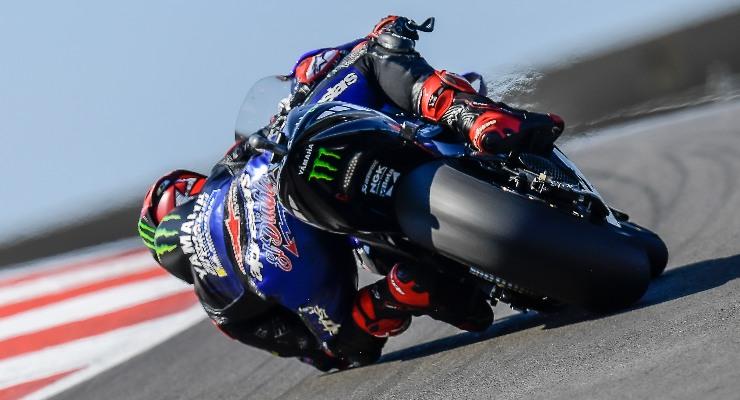 Fabio Quartararo sulla Yamaha al Gran Premio del Portogallo di MotoGP 2021 a Portimao