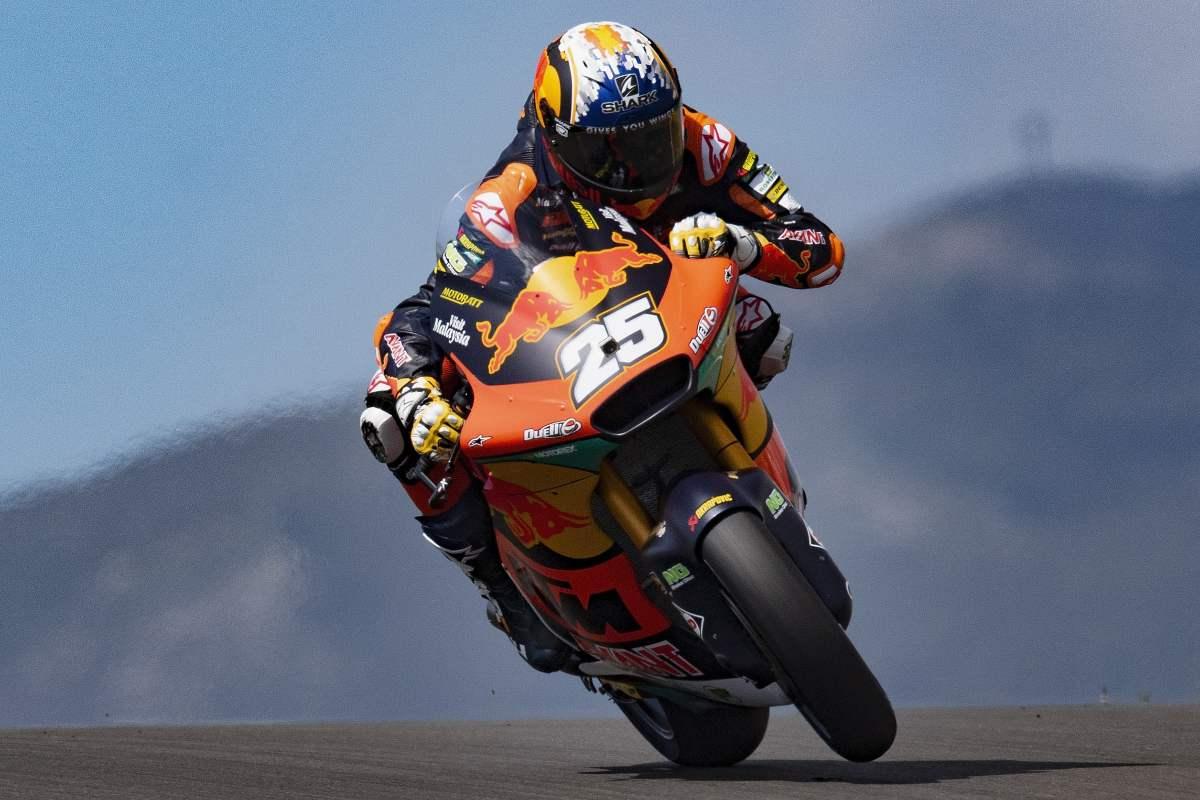Raul Fernandez in pista al Gran Premio del Portogallo di Moto2 2021 a Portimao