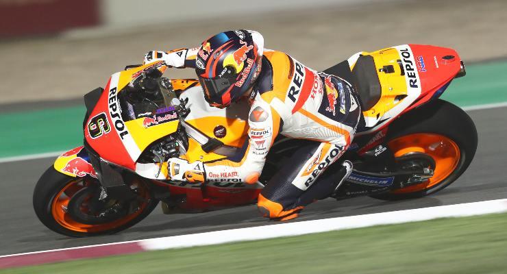 Stefan Bradl sulla Honda in Qatar