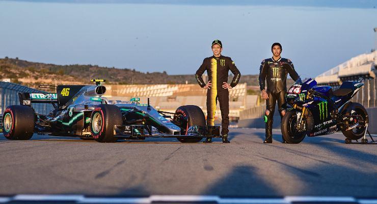 Lewis Hamilton e Valentino Rossi