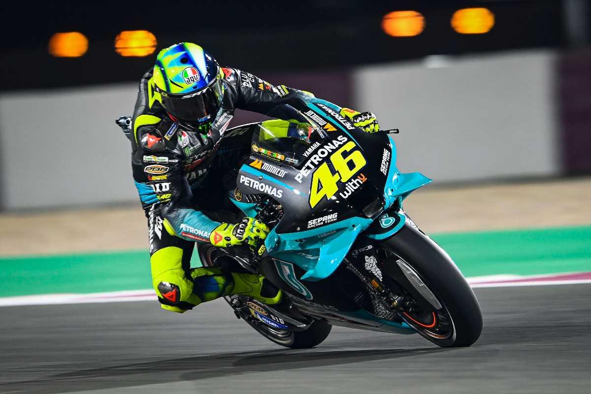 Valentino Rossi in pista nelle prove libere del Gran Premio di Doha di MotoGP 2021 a Losail