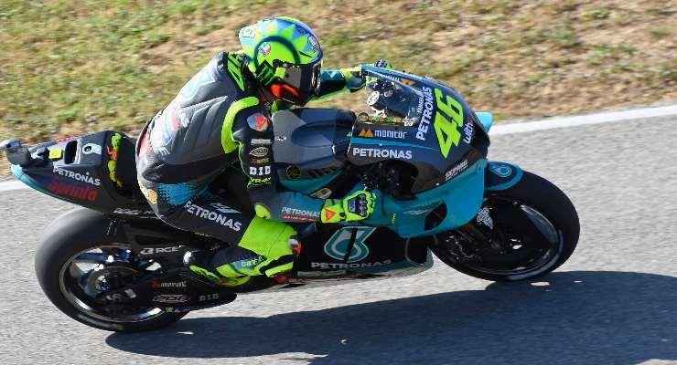 Valentino Rossi sulla Petronas Yamaha al Gran Premio del Portogallo di MotoGP 2021 a Portimao