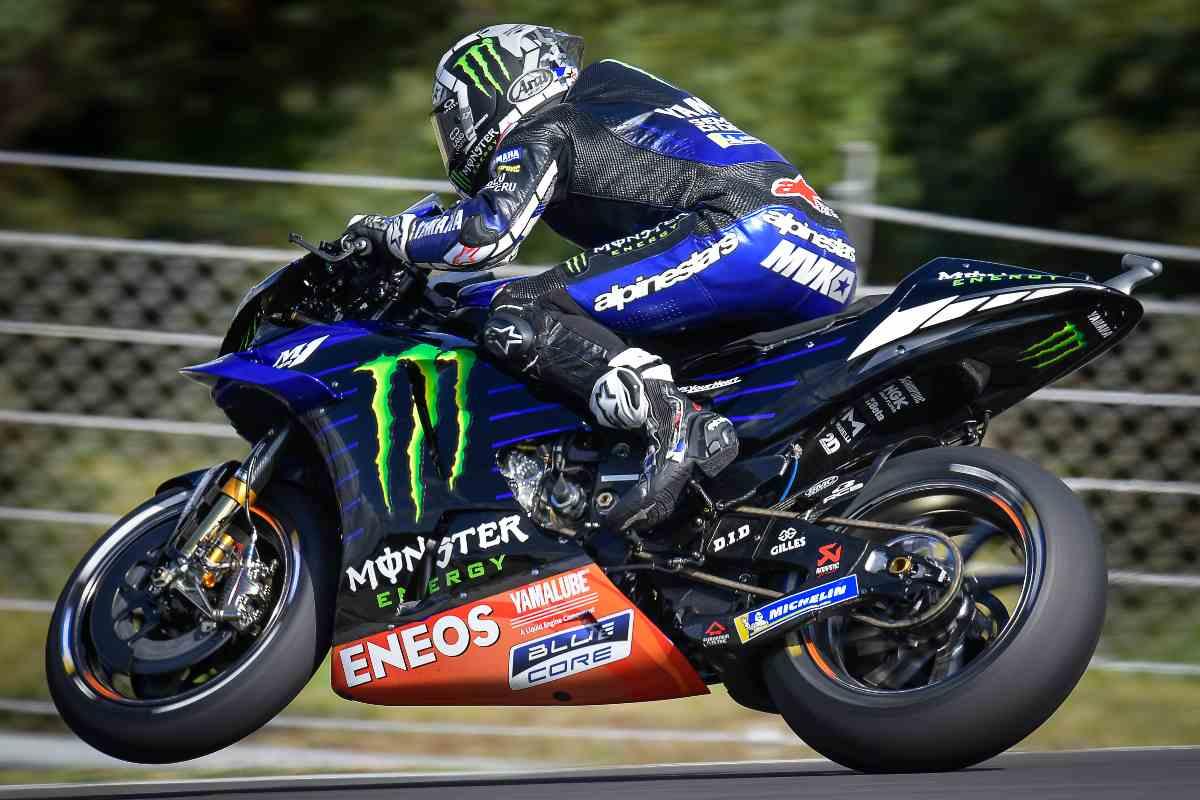 Maverick Vinales sulla Yamaha nel Gran Premio del Portogallo di MotoGP 2021 a Portimao