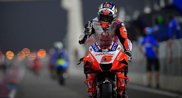 Johann Zarco sulla Ducati del team Pramac nel Gran Premio di Doha di MotoGP 2021 a Losail